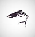 baracuda fish logo vector image vector image