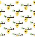 beehive on a branch seamless pattern vector image vector image