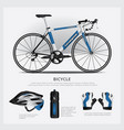 bicycle with accessory vector image vector image