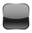 black square icon with stripes vector image