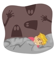 Boy having a scary dream vector image
