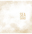bright poster with sea sand on a white background vector image