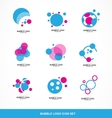 Bubble circle logo icon set vector image vector image