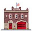 Building of fire station vector image vector image