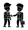 businessmen handshaking icon vector image