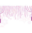 christmas curtain snow decor winter holiday vector image