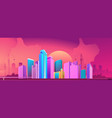 city night banner horizontal concept vector image