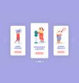 creative atelier fashion design mobile app page vector image vector image