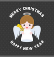 cute angel for merry christmas flat design vector image vector image