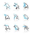 designer icons and symbols vector image