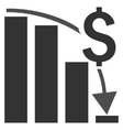Financial Crisis Flat Icon vector image vector image