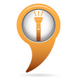 flashlight icon portable torch vector image