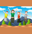 friends jumping vector image vector image