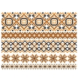 Geometric embroidery borders and frames vector image vector image