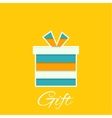Gift box with a bow vector image vector image