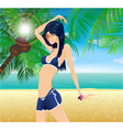 glamour summer background vector image vector image