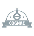 glass cognac logo simple gray style vector image vector image
