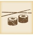 Grungy sushi icon vector image
