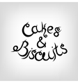Hand-drawn Lettering Cakes and Biscuits vector image vector image