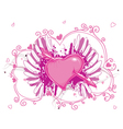 heart with grunge and wings vector image vector image