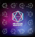 Hexagon Animation Set vector image vector image