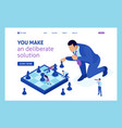 isometric big business chess game growth strategy vector image vector image