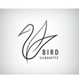 line bird logo pigeon silhouette flying vector image vector image