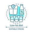 low fat diet vegan lifestyle concept icon vector image vector image