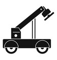 magnet crane icon simple style vector image