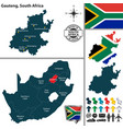 map of gauteng south africa vector image vector image