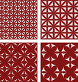 Maroon seamless pattern background set vector image vector image