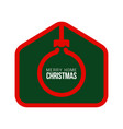 merry home christmas 2020 card with funny vector image vector image