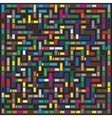 Multicolor Maze Geometric Pattern vector image