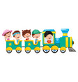 of kids transportation vector image