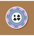 paper sticker on stylish background poker chips vector image