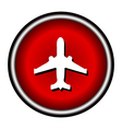 plane red circle modern web icon vector image vector image