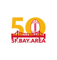 Pro Football Championship 50 SF Bay Area vector image