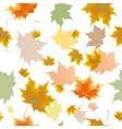 Seamless background pattern of autumn leaves vector image vector image