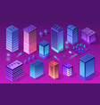 set city of ultraviolet style vector image vector image