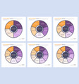 set infographic circle chart templates vector image vector image