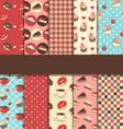 Set of 10 seamless sweet patterns vector image