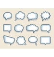 Set of speech or thought bubbles vector image vector image