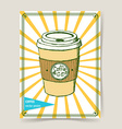 Sketch take away coffee vector image vector image