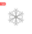 snowflake icon flat in black vector image vector image