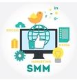 Social media marketing process and analytics vector image