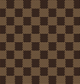 square brown beige seamless fabric texture pattern vector image vector image