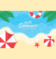 summer background with umbrellas on beach vector image vector image