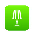 table lamp icon digital green vector image vector image