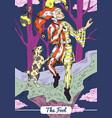 tarot - the fool card vector image