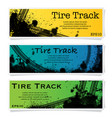 three color tire track posters vector image vector image